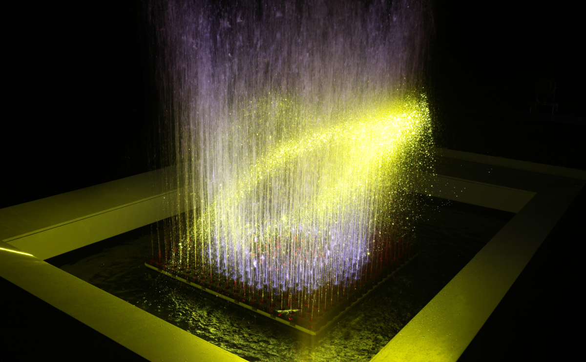 3D Hydromatrix Blue Fountain
